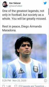 Diego Maradona: Argentina football legend dies of cardiovascular arrest at 60