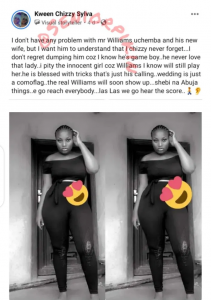Williams Uchemba is a Yahoo boy, I pity his new wife - Alleged girlfriend says